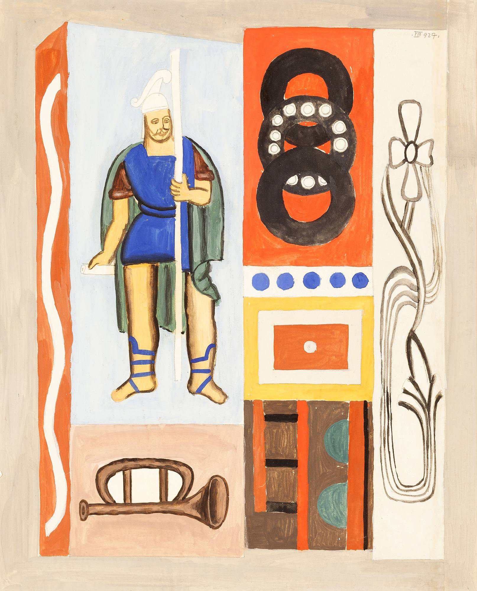 1. KRAKIDAŁY I PRZEDMIEJSKI LWÓW, Kompozycja ze św. Florianem